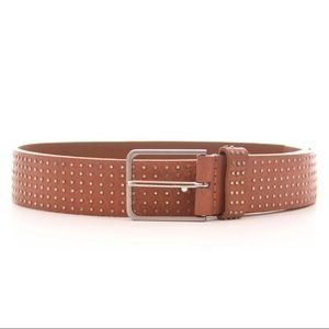 GUESS Studded Leather Brown Belt Size Small